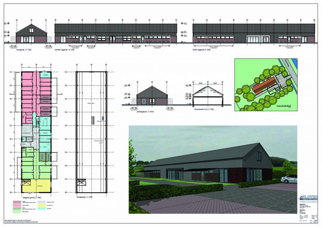 Nieuwbouw plattegrond   Dierenopvangtehuis de Bommelerwaard