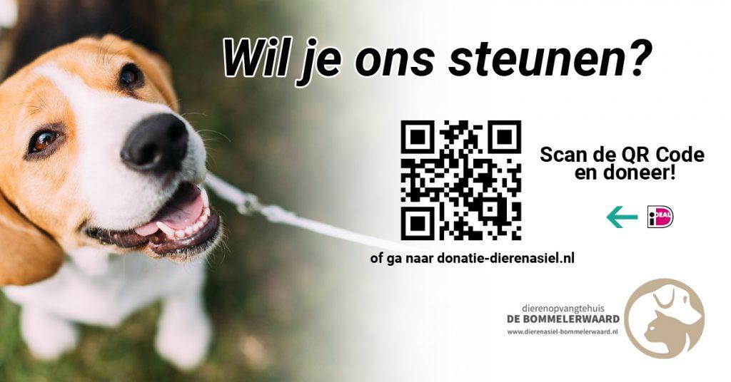 Donatie QR-code | Dierenopvangtehuis de Bommelerwaard